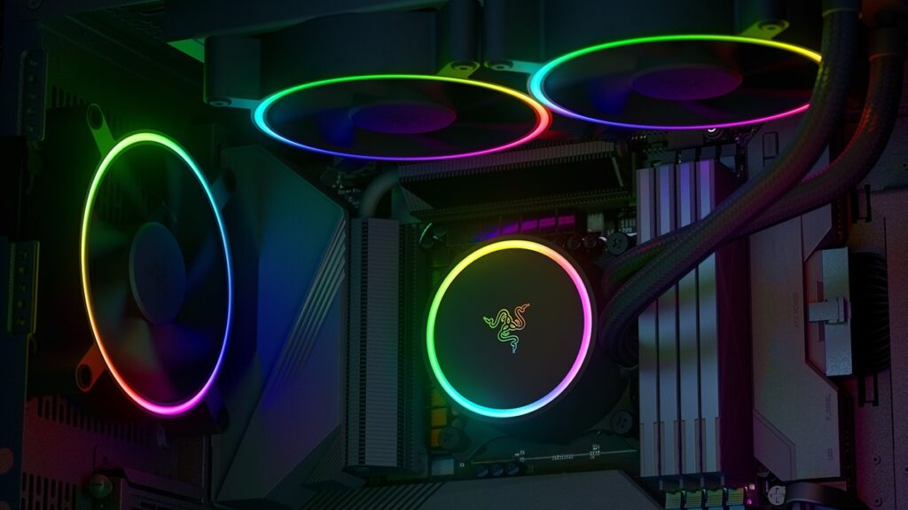 Razer Reveals New RGB-Enabled PC Fans, Liquid Coolers, And PSUs