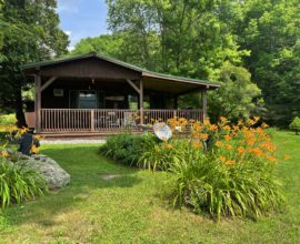 H16 - A perfect 4 season cabin located on a large stream nestled on 10 pristine acres.