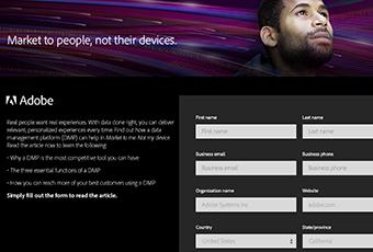 Tech Landing Page – DMP