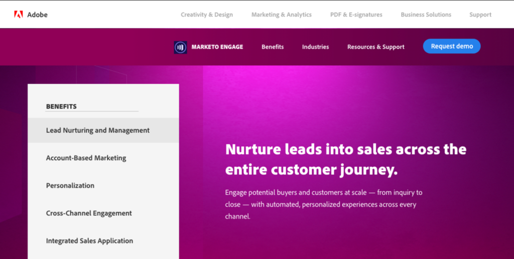 Adobe Marketo web copy