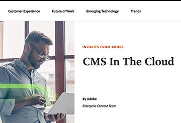 Adobe CMS cloud