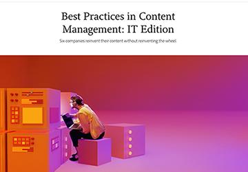 IT best practices in content management