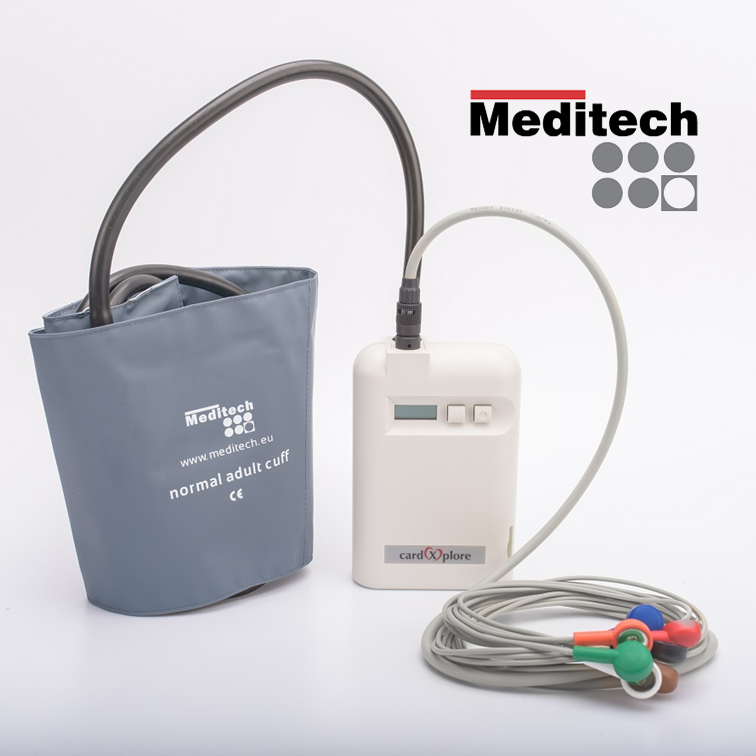 Multifunctional ambulatory blood pressure monitor with a 3-channel Holter ECG Card(X)plore