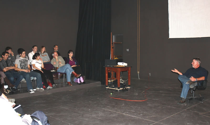 McGill speaks to students