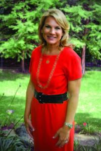 Jennifer Gates red dress full