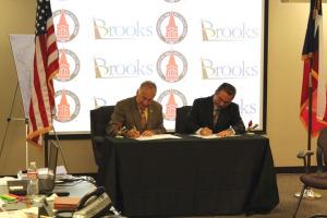 Brooks Signing for Med School