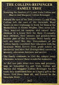 Reininger Family Plaque
