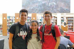 Triplets Nicolas, Mariah and Christopher Dingman are UIW freshmen this fall.
