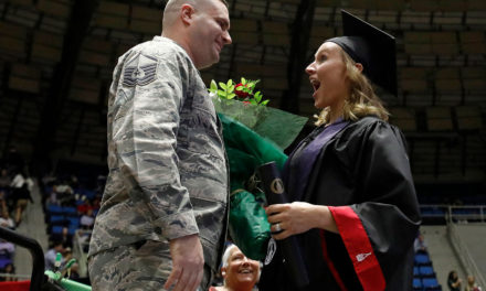 UIW Graduate Receives Military Surprise at Commencement