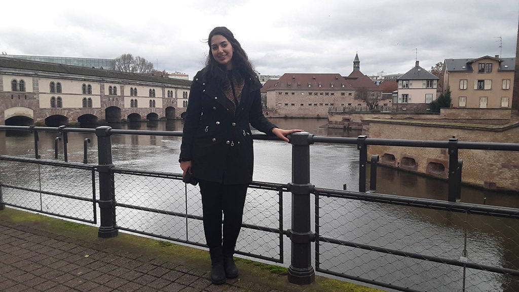 Student Government Association President Mariana Barron-Esper visits Strasbourg