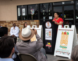 Councilwoman Rebecca Viagran responded to the need of District 3 constituents to bring healthy foods into neighborhood food marts.