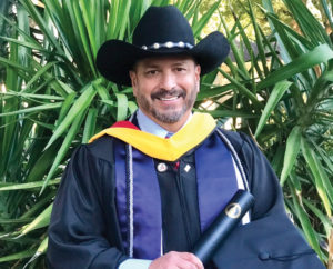 Rangel upon his graduation from UIW.
