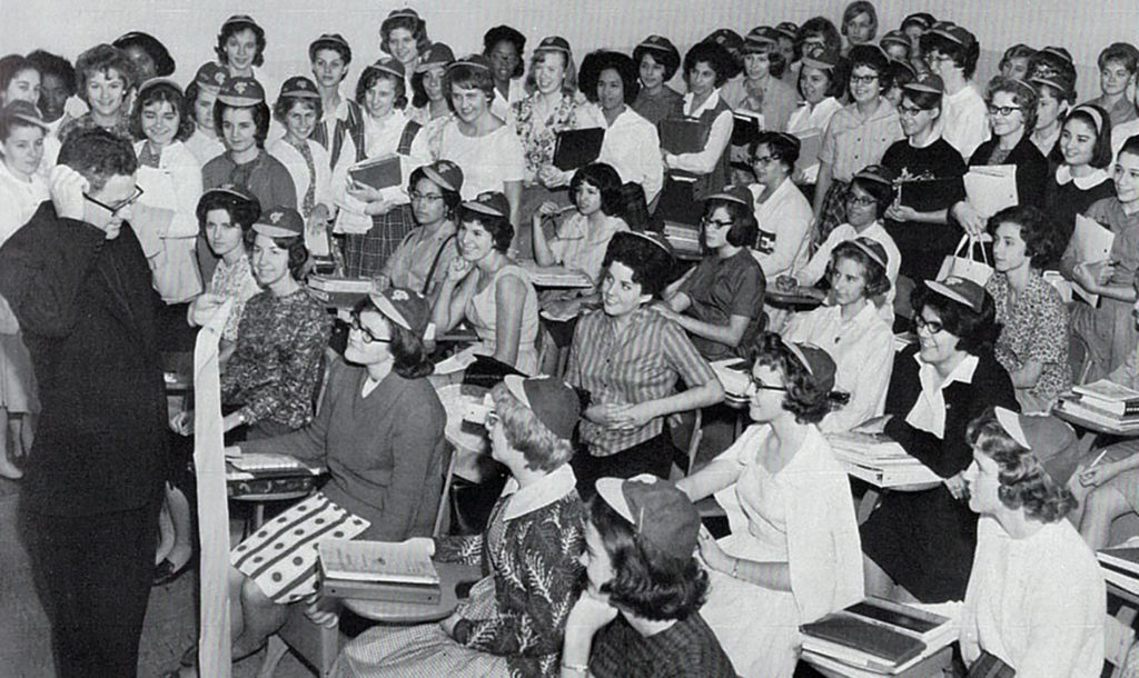 Freshman students received beanies in the 1960s