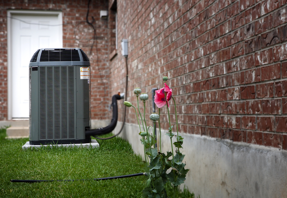 central air conditioning unit outside the home