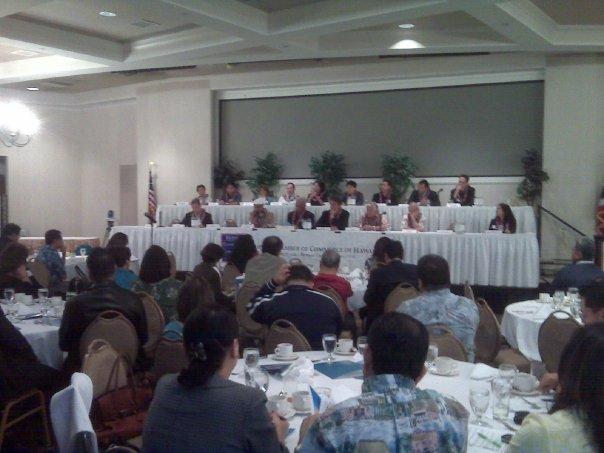 Forum with Hawaii State Legislators