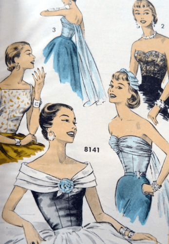 1950s History of Prom Party and Formal Dresses