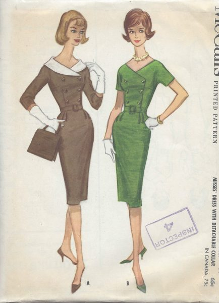 1960 Vintage Sewing Pattern B34 DRESS R784 251188824912 434x600 1