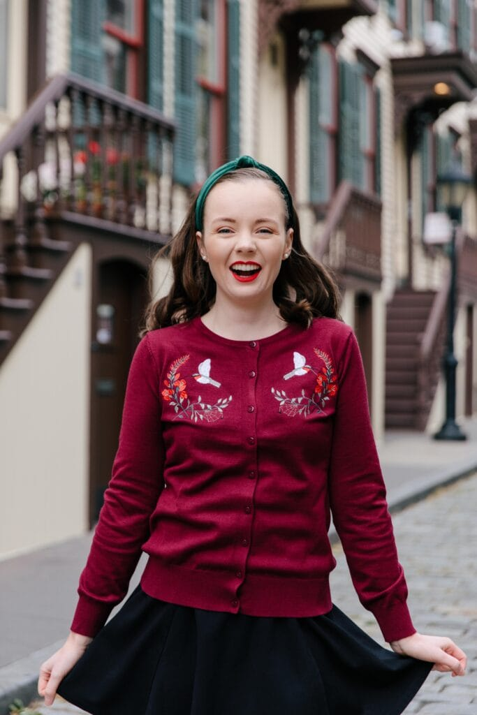 Embroidered Cardigan Holiday Style