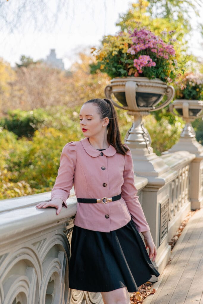 Woman in 1940s Inspired Clothing