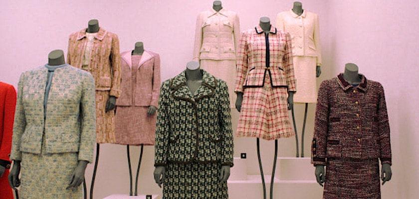 Vintage Chanel Suits on Mannequins