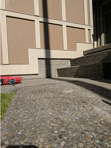 Concrete Block with Stairs After