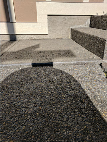 Concrete Block with Stairs Before