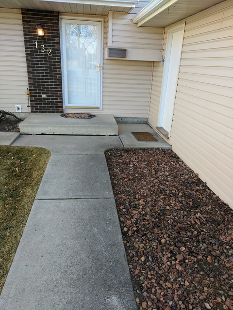 Concrete Steps Leveling Before