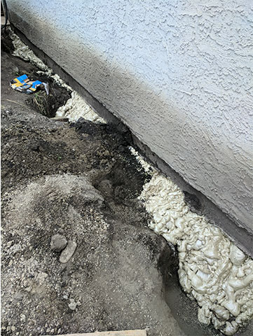 Foundation of a House After