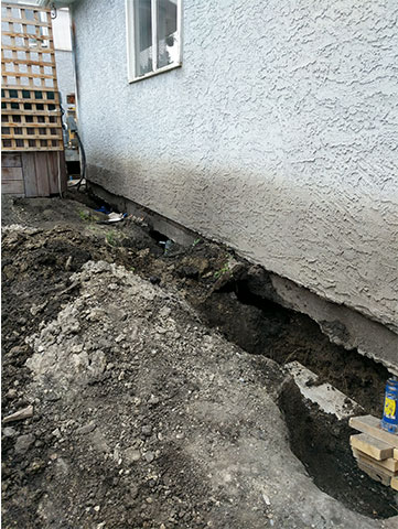 Foundation of a House Before