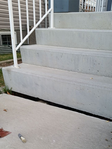 Gap in Stairs Before