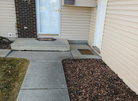 Sidewalk and Walkways Before
