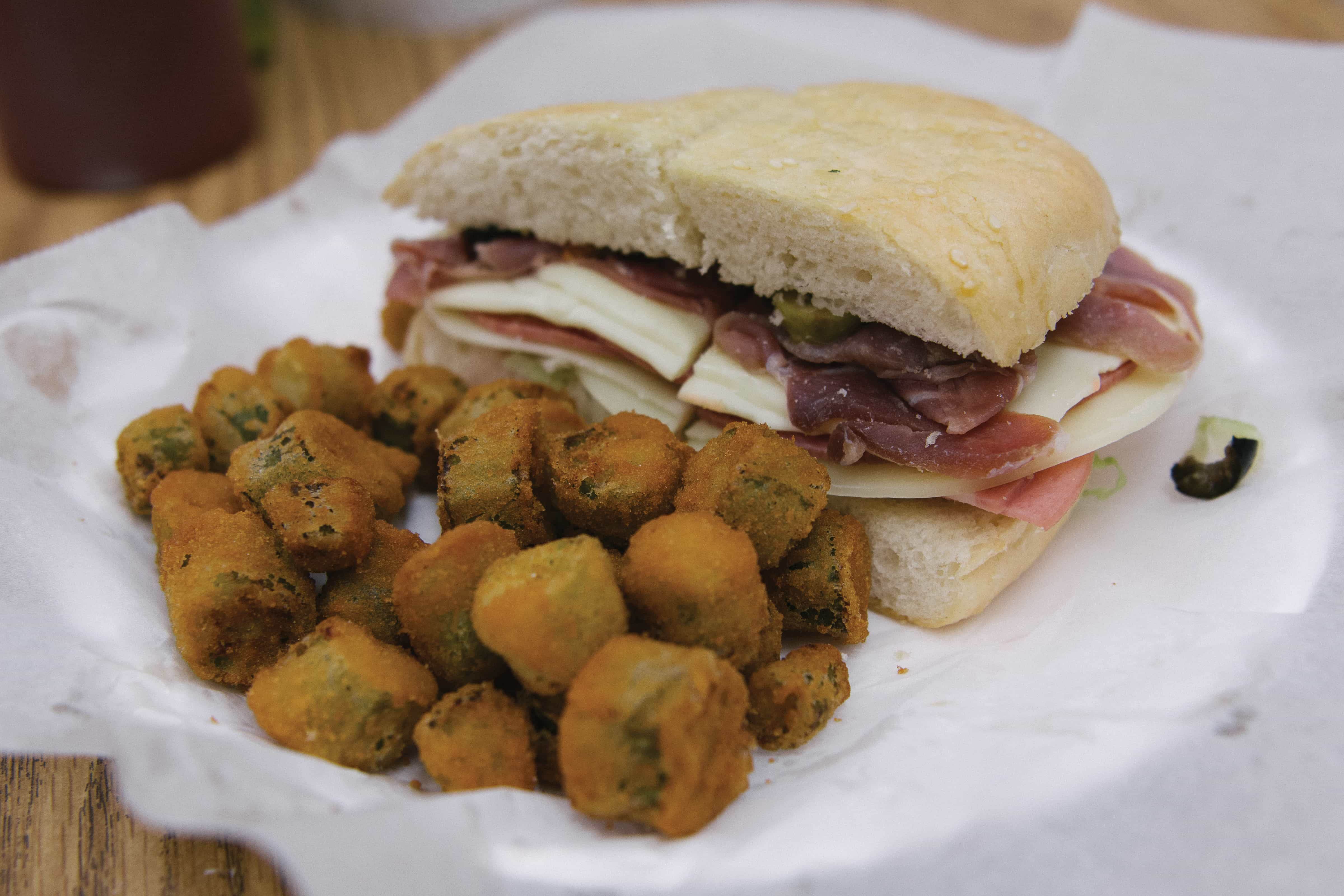 Fratesi's muffaletta is a popular item on their menu.
