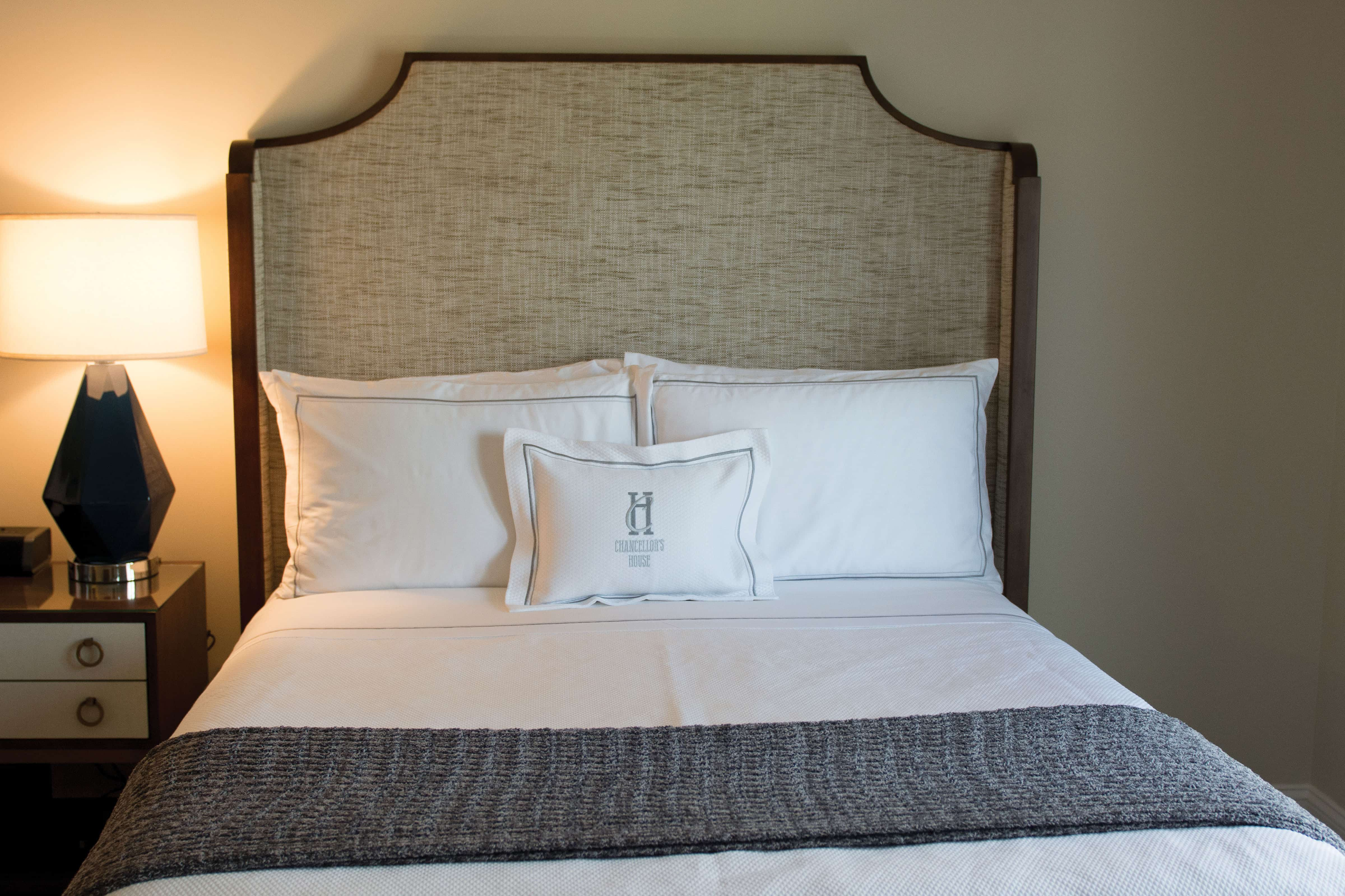 Guest's rooms feature luxurious accommodations.