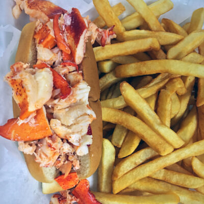 Butter Lobster Po'boy with Fries