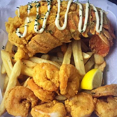 Fried Lobster Tail & Shrimp Platter