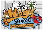 Papa's Wings Seafood Logo