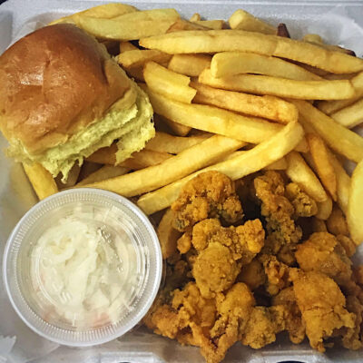 Whole Belly Clam Platter with Fries