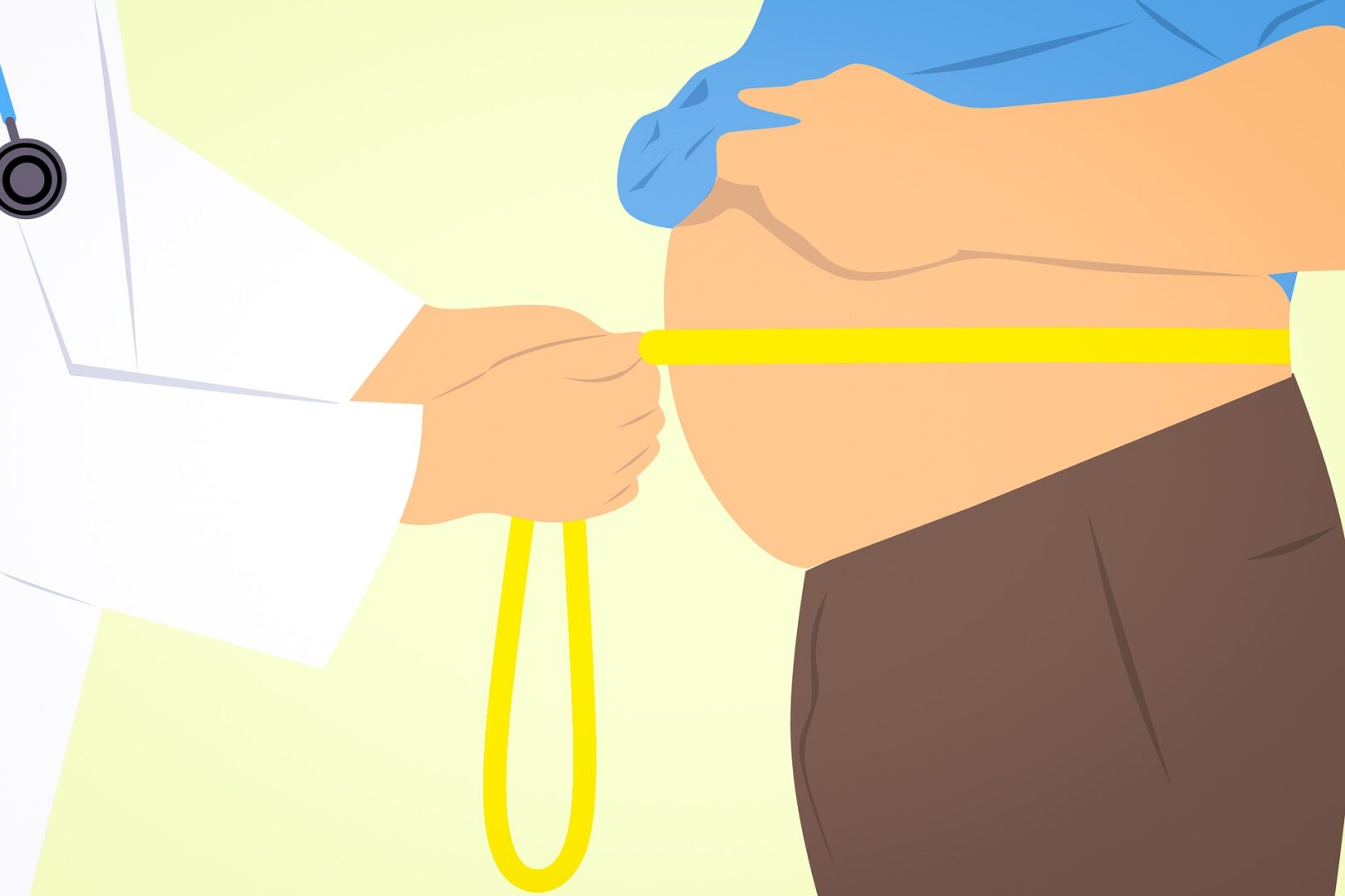 Measuring for belly fat