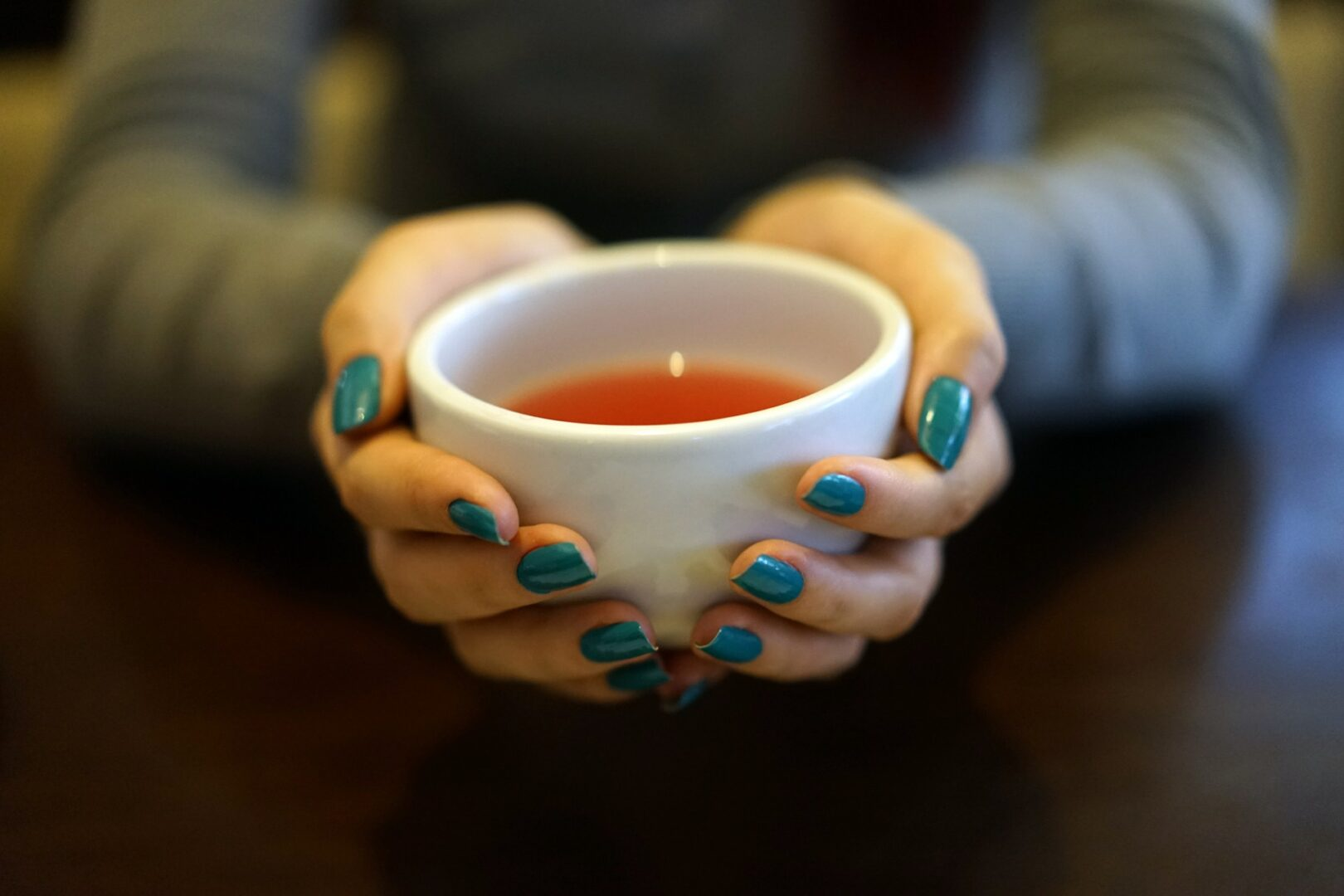 Warming up with tea