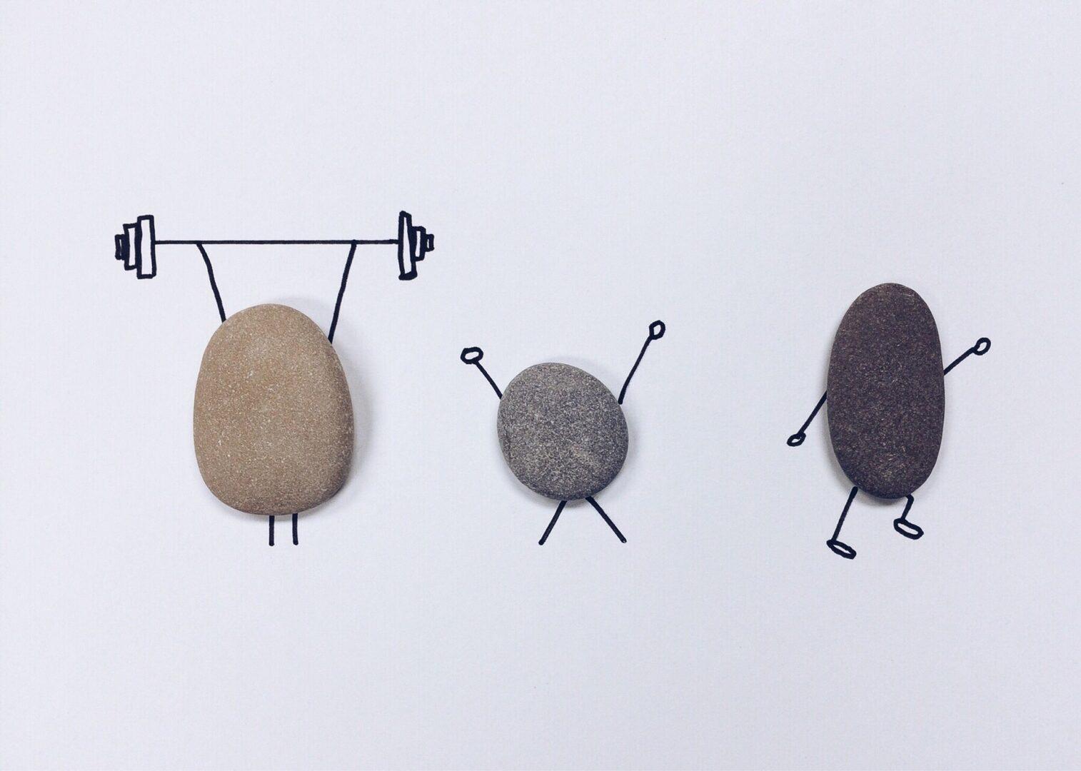 rocks lifting weights