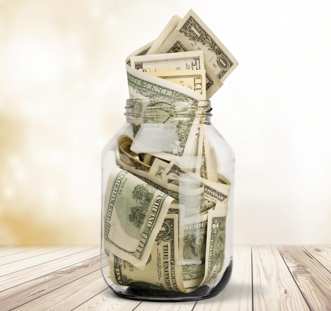 jar full of bills
