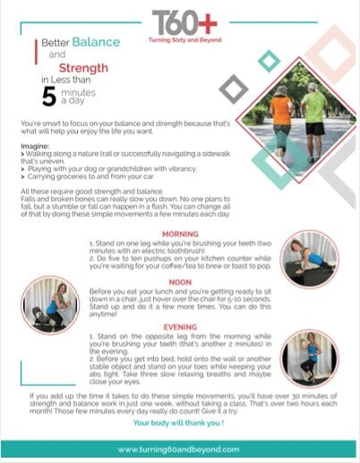 Picture of the Free Handout on Better Balance and Strength