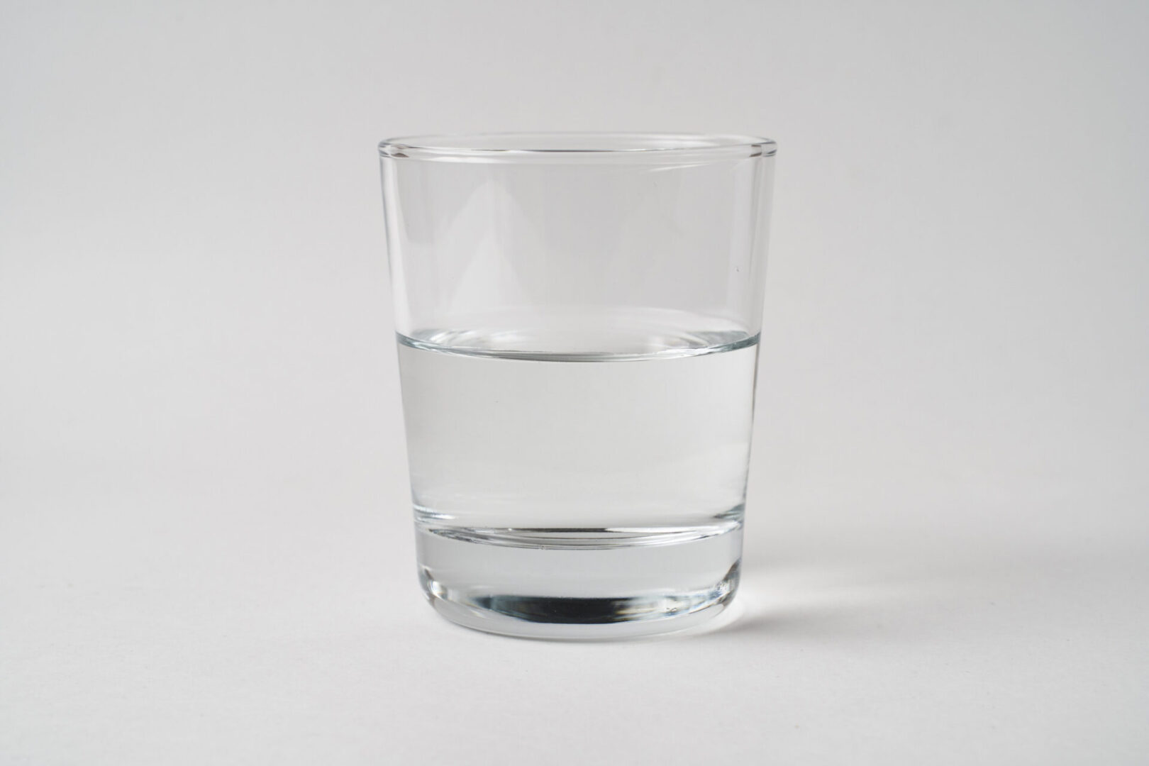 water glass half full