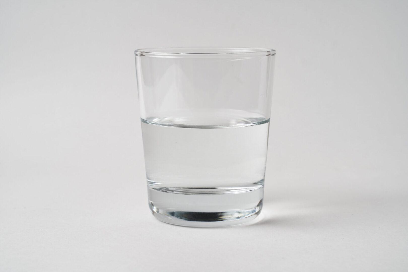 water glass half full