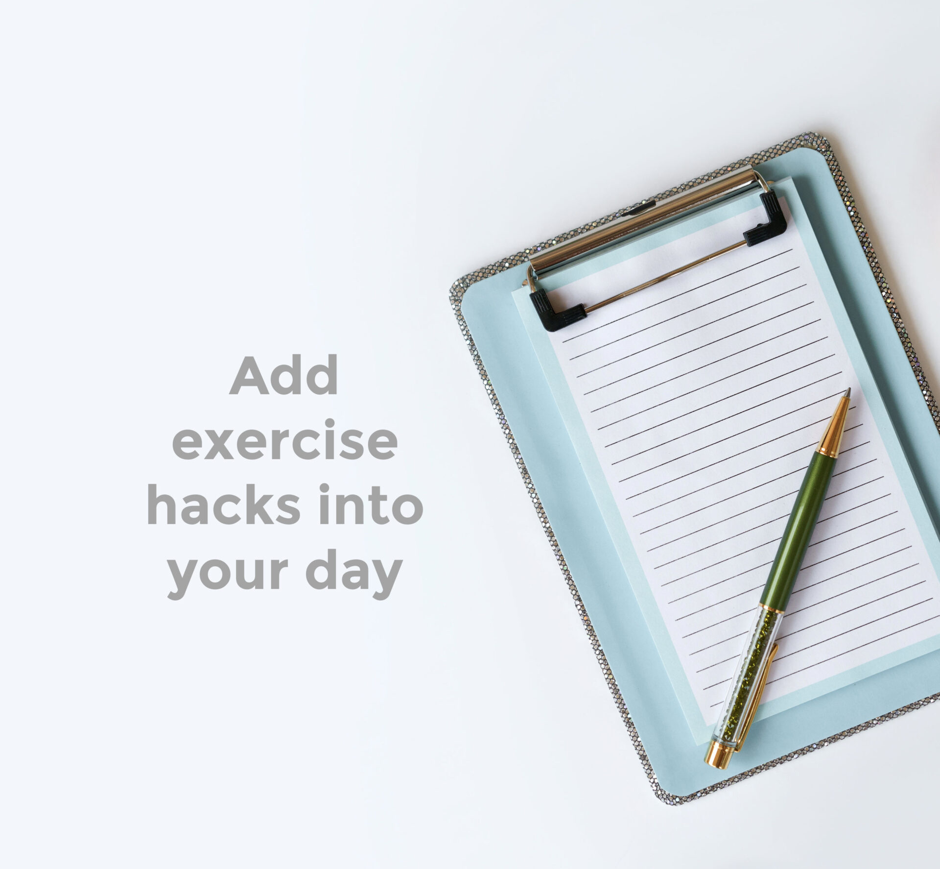 Clipboard with a piece of paper