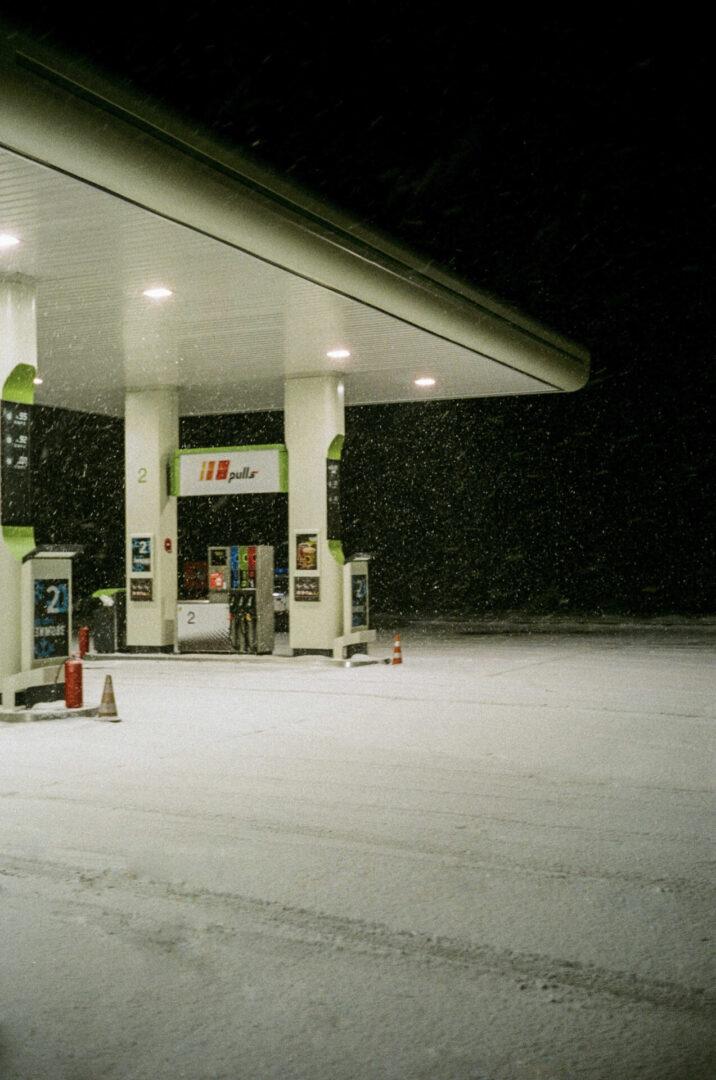 Dark gas station