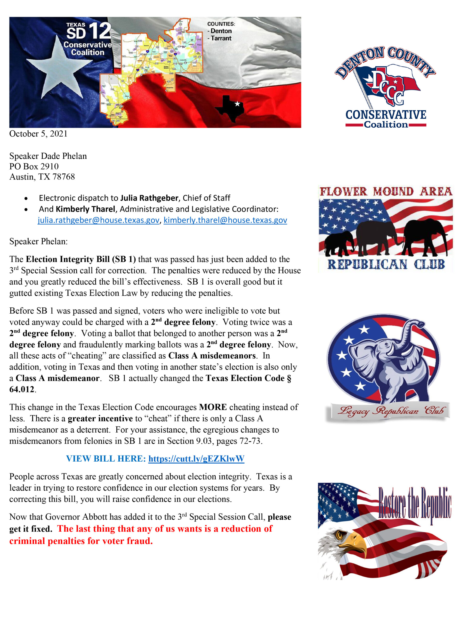 SD 12 Election Integrity to Phelan with Signatures 10-5-21-1