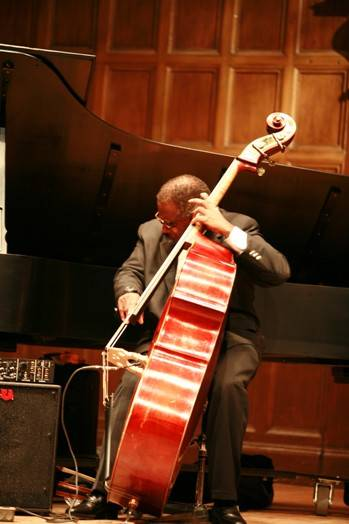 Bassist John Robinson with the Valerie Capers trio