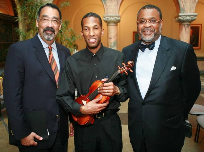 Dr. Paul Burgett of The University of Rochester, Henrei Muhammad of the Muhammad School of Music, and Rev. Lawrence Hargrave of Mt. Olivet Bapt Church