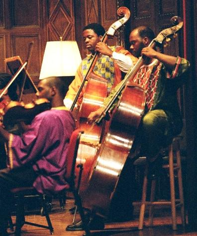 Eric Thompson (left) & Maurice Belle, basses